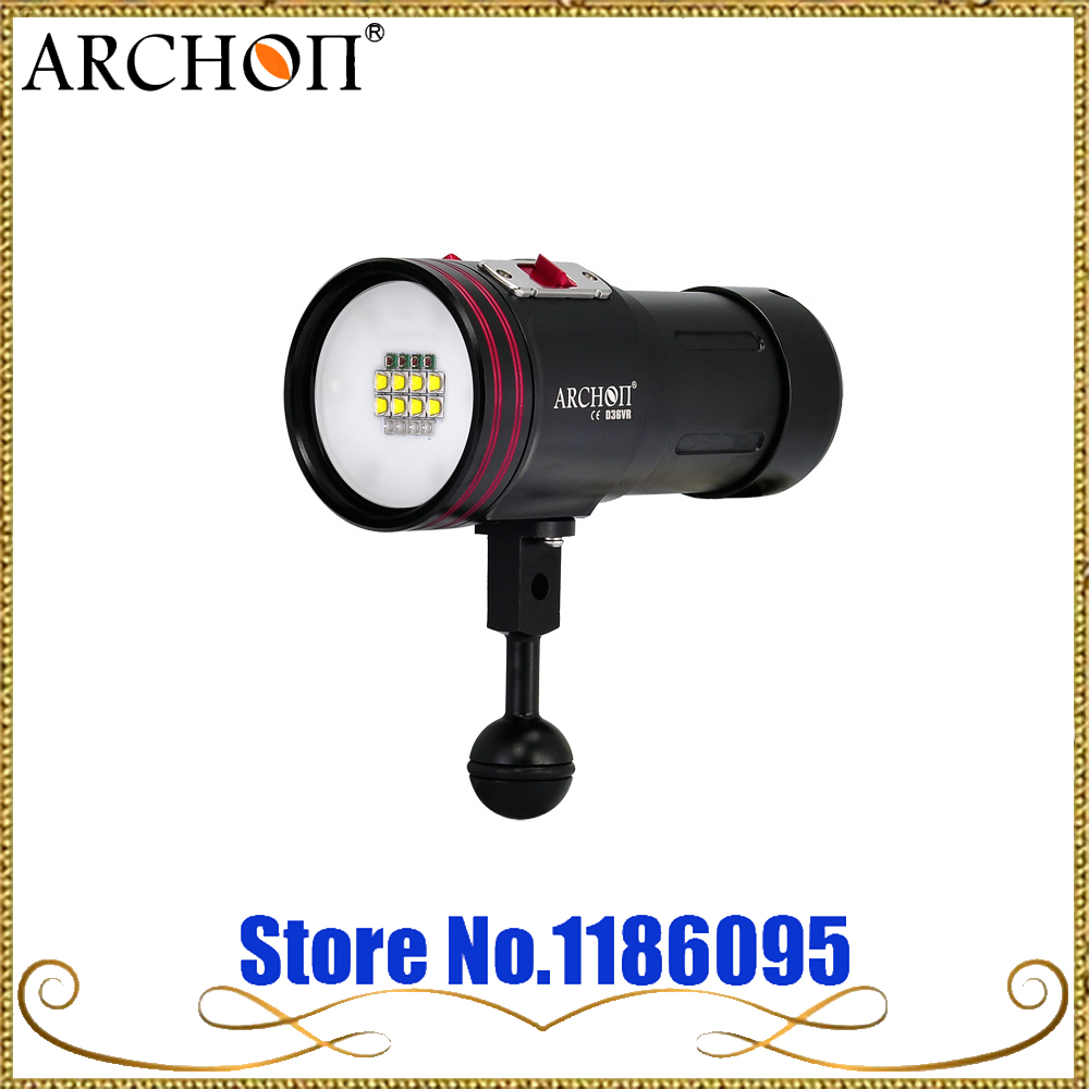 Бесплатная доставка ARCHON W42VR D36VR W42VR 5200lm Подводный Видео Дайвинг фонарик