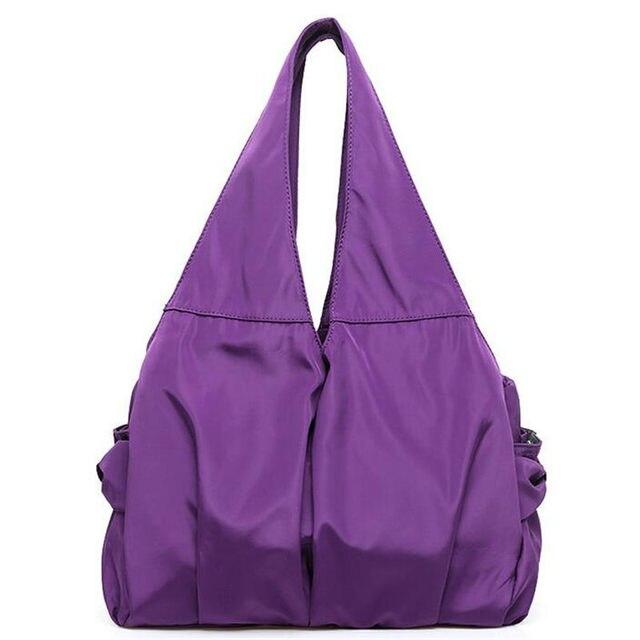 2017 Nova Grande Capacidade de Nylon Saco de Ombro Das Mulheres Tote Handbag Designer de Moda À Prova D' Água Casuais Simples Viagem Saco De Compras Bolso