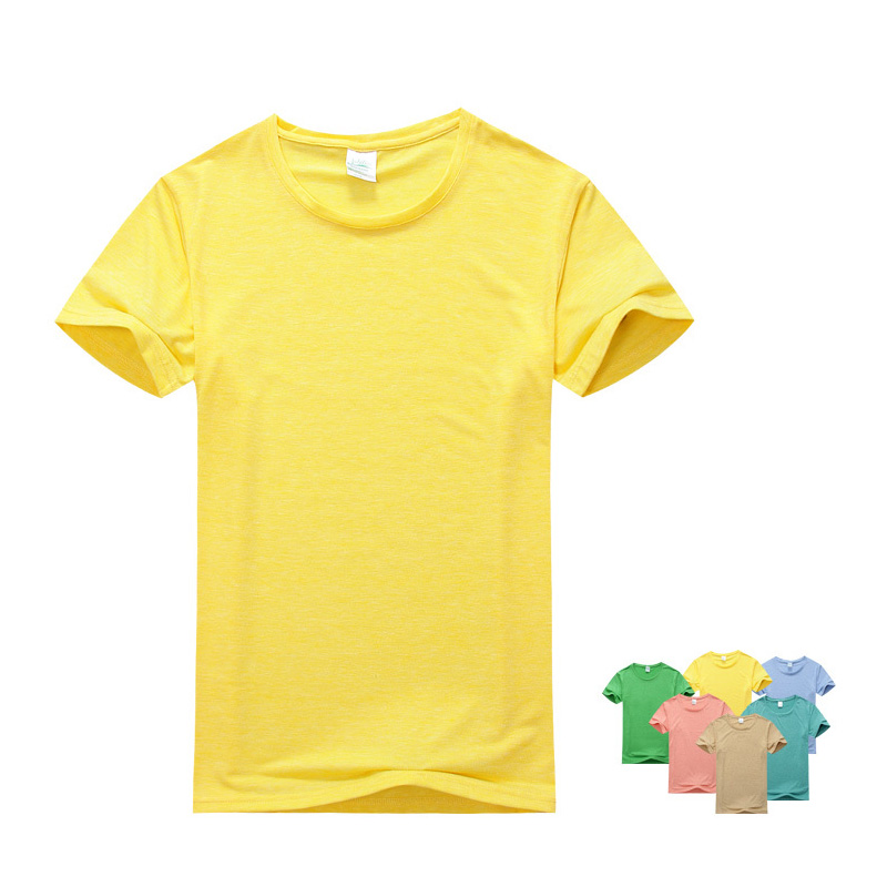 54f3f99018a Colorful Summer Solid Yellow Pink Blue Green Kid s T-shirts Colored Cotton  Boys and Girls Tee Sweet color Active Style