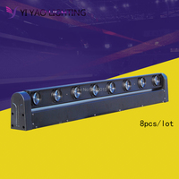 8pcs/lot bright dream 8 eyes full color moving head laser rgb mini stage lighting dj equipment
