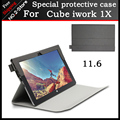 "For Cube iwork1X Case PU leather Case Special flip Cover Case For cube iwork1X 11.6"" Tablet PC Freeshipping+3gift"