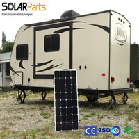 Solarpats 3pcs 100W High Efficiency Semi Flexible PV Solar Panels Power Cell Modules For Boat Golf