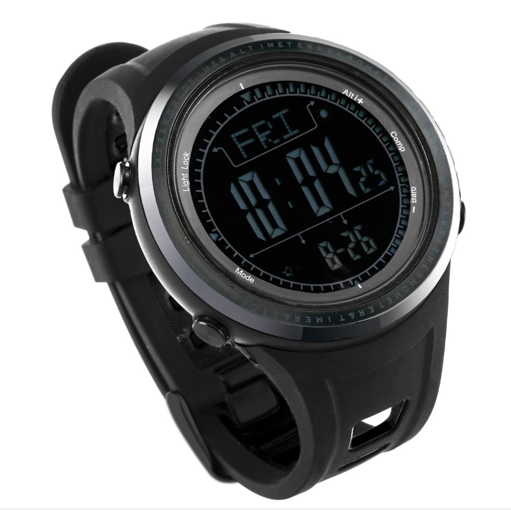 SUNROAD FR802BN Outdoor Sport Watch Men 5ATM Waterproof Altimeter Compass Stopwatch Fishing Watch Barometer Pedometer Dive Watch sunroad 2018 new arrival outdoor men sports watch fr851 altimeter barometer compass pedometer sport men watch with nylon strap