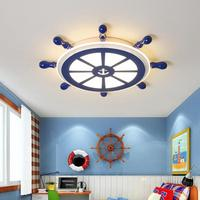Surface mounted children room led sailor light Study reading Light Home office Novelty Blue Led Ceiling Lights bedroom Lamparas