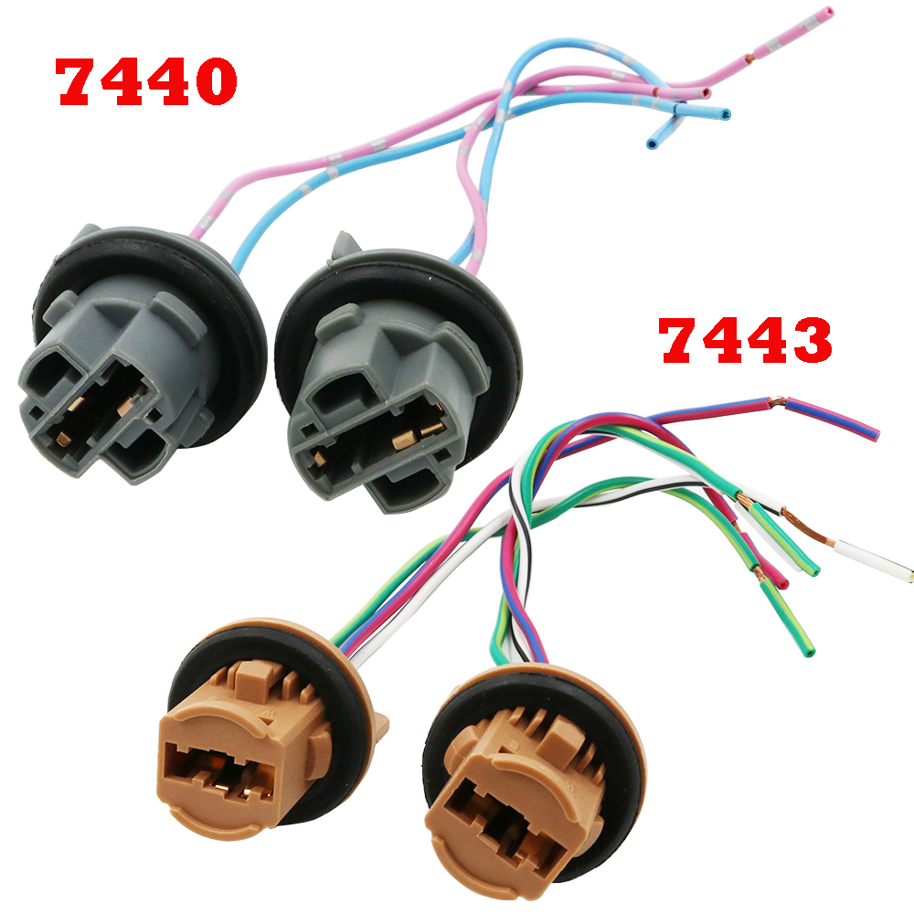 Details About 3 Socket Taillight Taillamp Wiring Harness For 0002