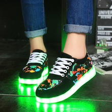 Women Led luminous shoes 2017 new arrivals fashion women casual low-top shoes women