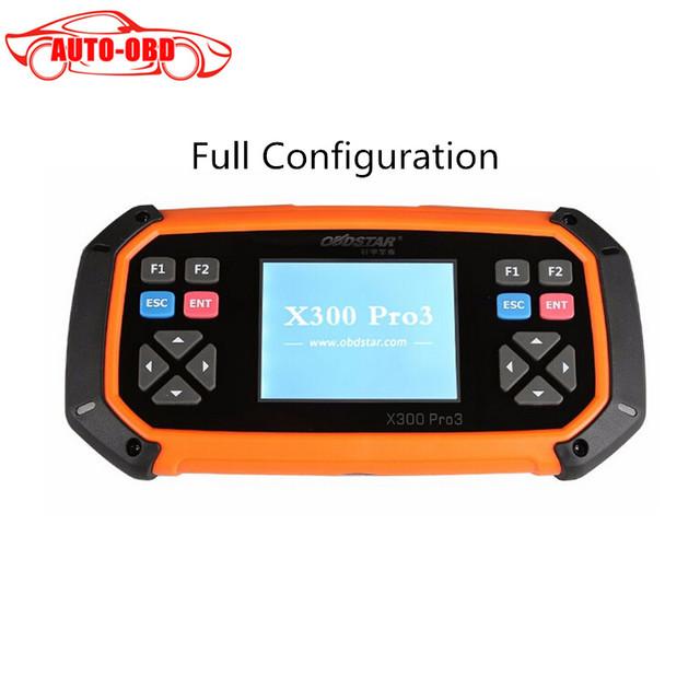 OBDSTAR X300 PRO3 Chave Mestra (configuração do pacote Completo) OBDII X300 Pro3 Chave Programador Ferramenta de Correção de Odômetro EEPROM/PIC