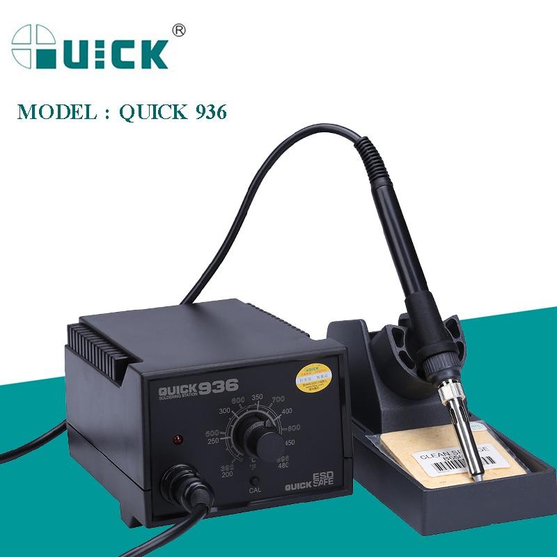 QUICK 936 110V/220V ESD Safe Soldering Station 60W Adjustable Temperature Electric Solder Iron Anti-static BGA Rework Station