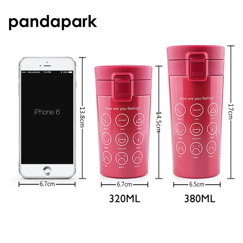 Pandapark 380ml Thermos Cup Coffee Stainless Steel Car Cafe Vacuum Flask Office Coffe Cup Vehicle Bottle Travel Thermoses PPX003 in Vacuum Flasks Thermoses from Home Garden