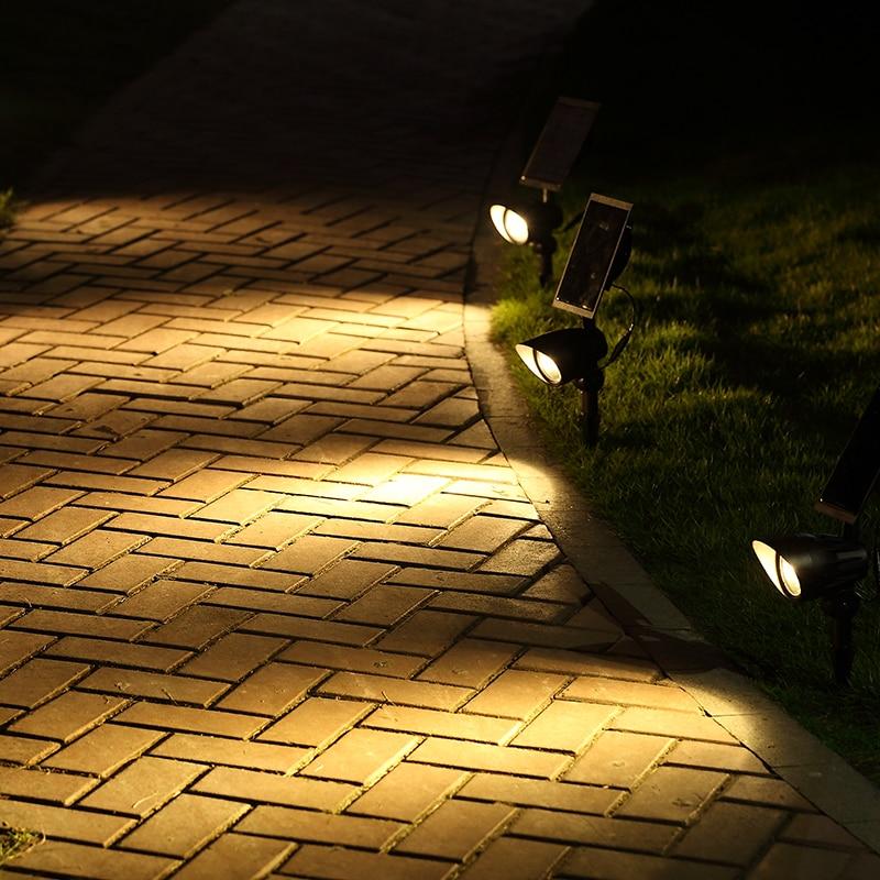 Waterproof Solar LED Spotlight Bulbs Outdoor Garden Yard Lawn Lamp Light Sensor Warm White Solar Energy Lamp for Home Lighting