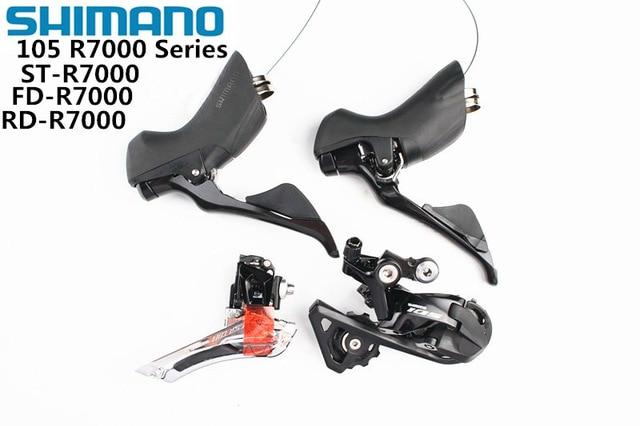 Dérailleurs SHIMANO R7000 groupe 105 R7000 dérailleur avant vélo de route + dérailleur arrière + mise à jour manette de vitesse à partir de 5800