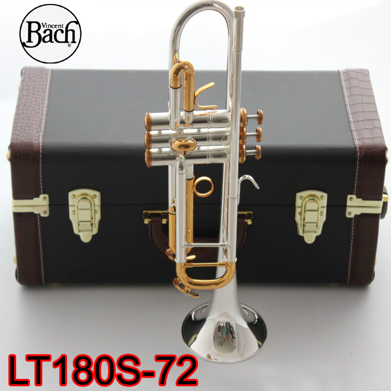 Brass Instruments Radient Bach Stradivarius Professional Bb Trumpet Lt180s-72 Silver Plated Gold Keys Instrumentos Musicales Profesionales Mouthpiece Back To Search Resultssports & Entertainment