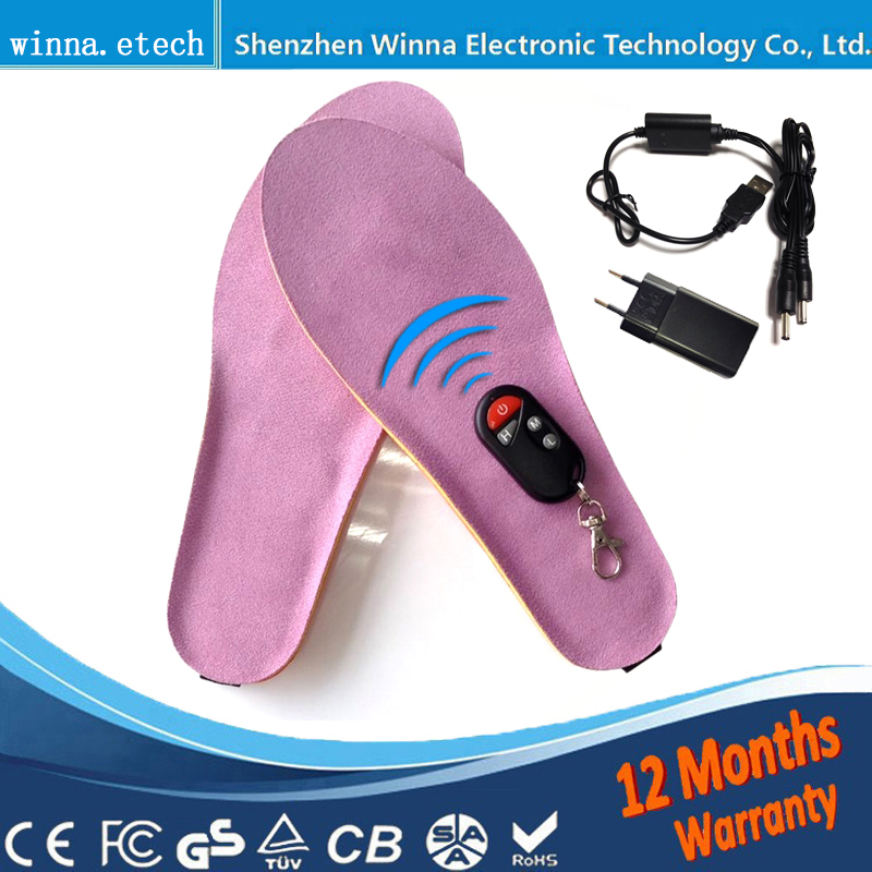 NEW Heated Insoles Winter thick warm soles usb Charged heat Insoles for Men and Women Inserts Shoe BOOT Keep Warm 2000MAH new winter plush warm heated insoles remote control insole thermal thickened warm keeping shoes soles for men and women 2000mah