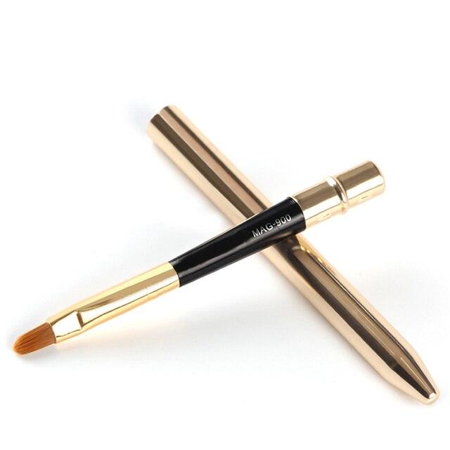 Pro Szczotkowanie Wargi wargi eyeliner Eyeliner Makeup Muśnięcie Eye liner brush szczotki Z Pokrywą Wielofunkcyjne Kosmetyczne Makeup Tools