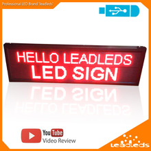LEADLEDS LED Display USB Programmable Red Scrolling Message Information Input LED Sign Board Car Sign Display Indoor Lighting