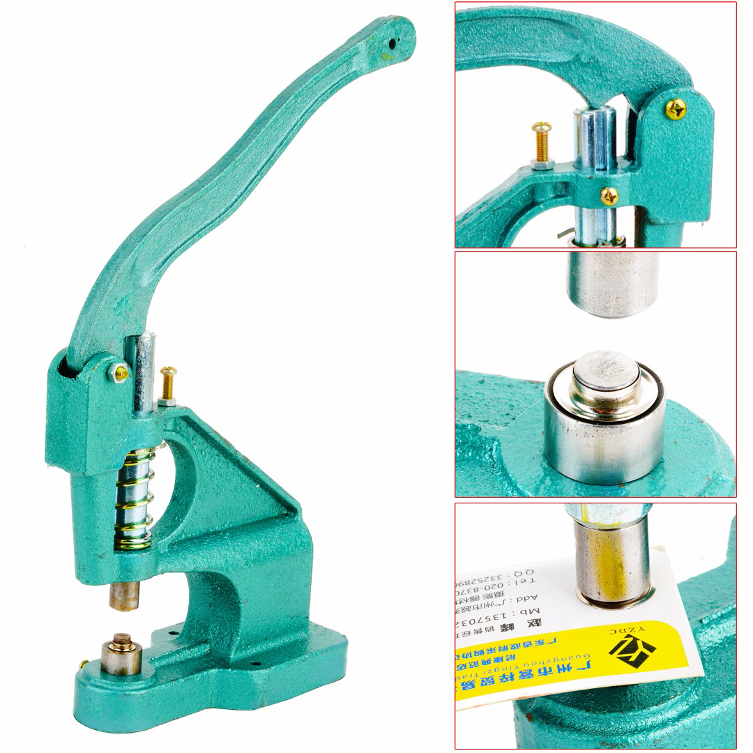 Heavy Duty Grommets Eyelet Machine Punch Presser Tool Vinyl Banner 3 Die Setter 900 Grommet Machine Kit MAYITR industrial grommet button machine maker eyelet hand press tool for banner bags shoes mould suitable for 2mm id rivet nuts