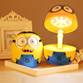 Kids Lovely Minions Folding Lamps/Student LED Eyeshield Book Light/Children Despicable Me Table Lamps Free Shipping
