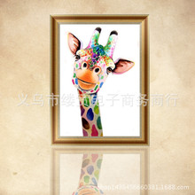 Home wall painting cross stitch new style living room oil painting giraffe diamond painting foreign explosion magic cube drill fullcang diy 5pcs full square diamond embroidery horror movie 5d diamond painting cross stitch mosaic needlework kits sale d907