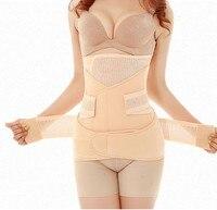 3in1 Fajas Cintura Transpirable Recuperación Posparto Cinturón Abdominal Del Vientre Vientre/abdomen/pelvis Embarazadas Reductor de la talladora