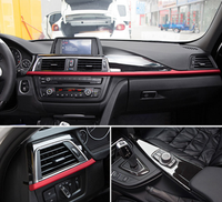 For BMW 3 4 Series f30 f34 GT 316i 320li 2013 2017 ABS Center Console Dashboard Decoration Panel Cover Trim 3pcs Car Accessory