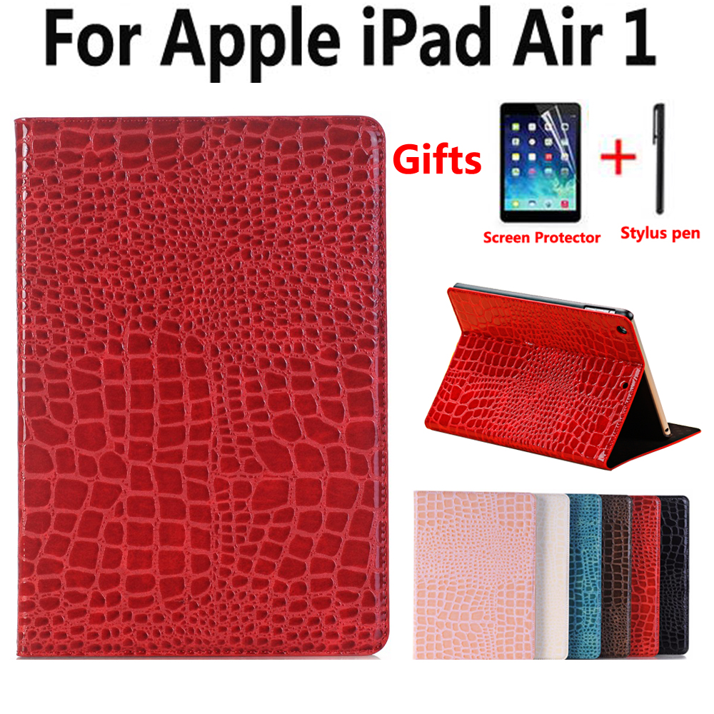 Case for Apple iPad Air Air1 5 9.7 inch Smart Case Cover Funda Tablet Luxury Crocodile Leather Smart Sleep Slim Stand Shell universal case for 7 9 8 0 9 7 10 10 1 10 5 inch tablet cover for ipad pro air 2018 samsung huawei pu leather stand funda shell