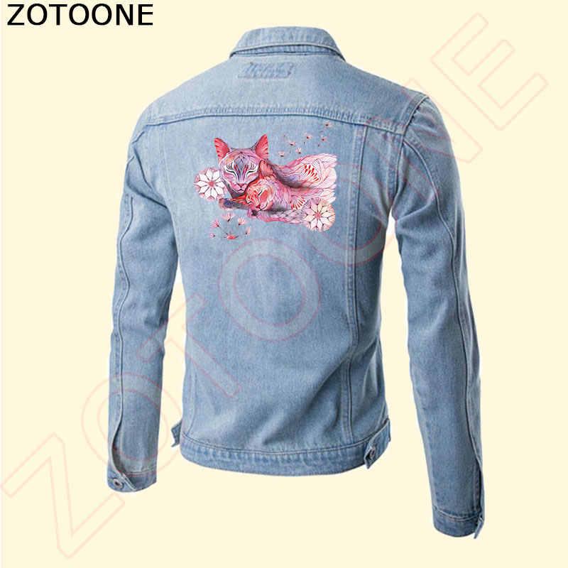 ZOTOONE yeni tasarım güzel hayvan yama kedi köpek T-shirt elbiseler kazak termal demir on Transfer yama giyim için F
