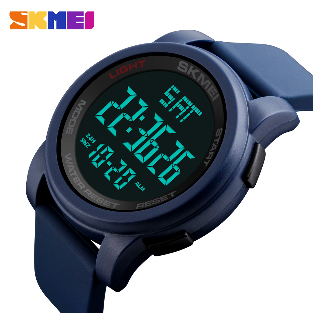 купить SKMEI Men Sports Watches Double Time Countdown Electronic Digital Wristwatches Man Clock Relojes Waterproof Relogio Masculino недорого