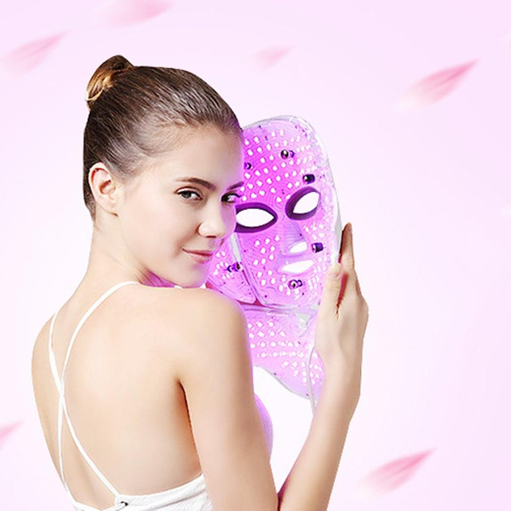 7 Color LED Light Photon Therapy Mask Treatment Skin Whitening Facial Mask Beauty Skin Care Face Mask Wrinkle Acne Scar Remover