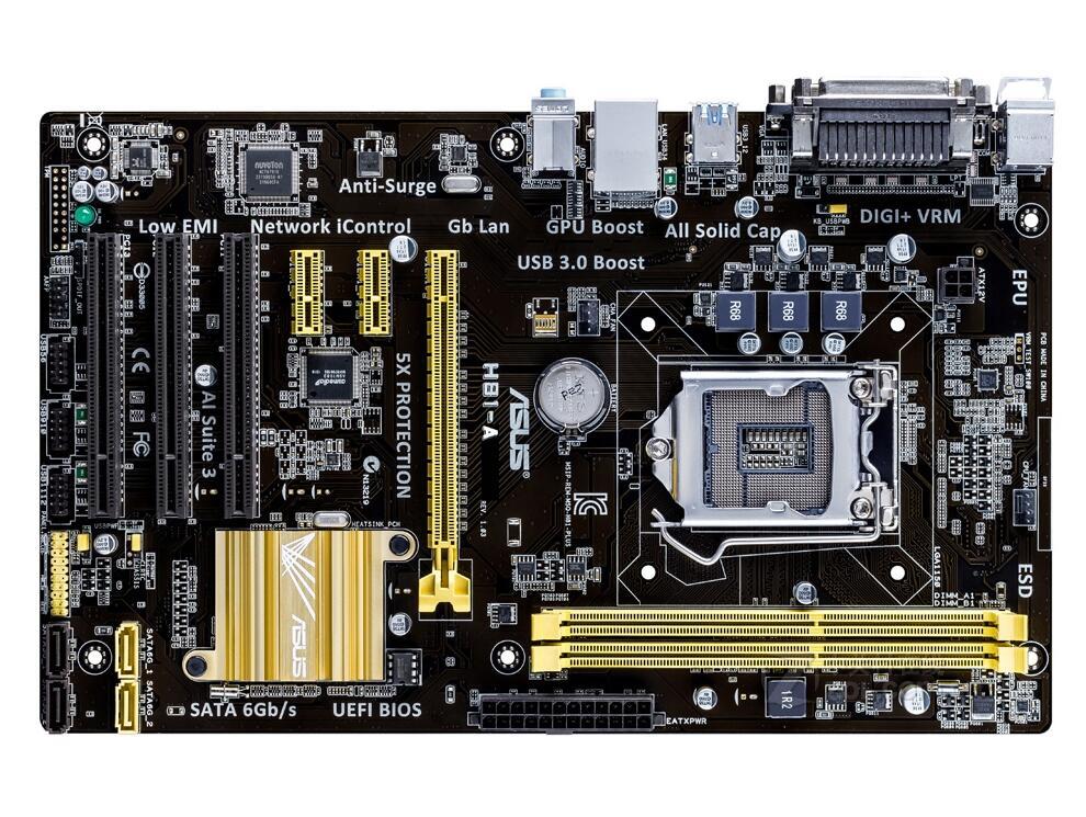 ASUS H81-A luxury board 1150 H81 motherboard 4170 4590 материнская плата asus h81m r c si h81 socket 1150 2xddr3 2xsata3 1xpci e16x 2xusb3 0 d sub dvi vga glan matx
