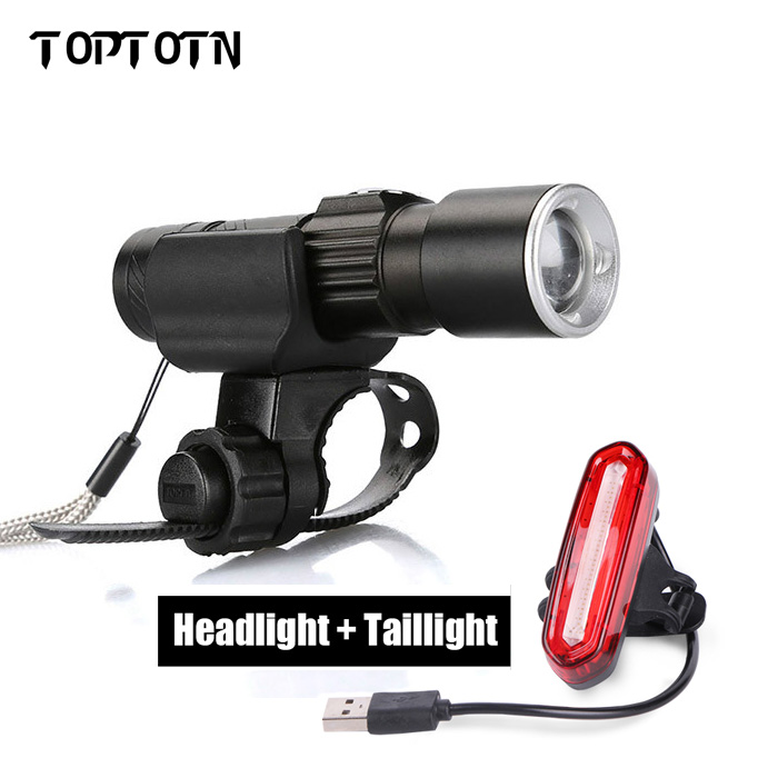 2018 New Arrival Bike Torch MTB Road Bicycle Lamp Usb Chargeable Led Front Light Tail Light Set Taillight Rear Light