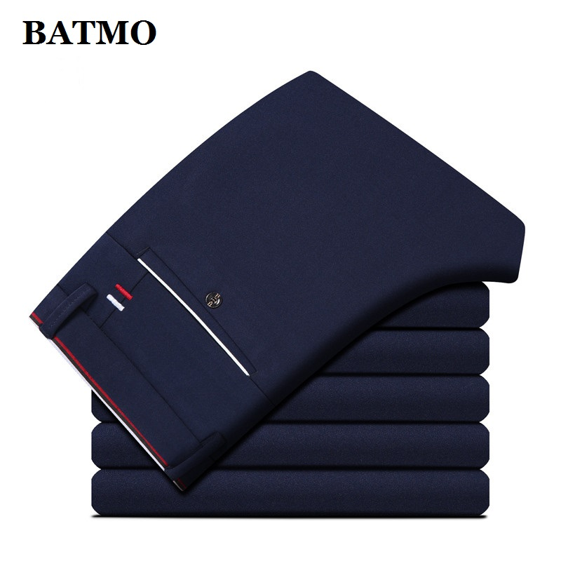 BATMO 2019 New Arrival High Quality Casual Skinny Pants Men,mne's Slim Trousers,men's Pencil Pents Plus-size 28-40 KZ126