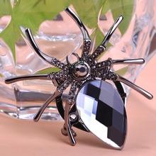Black Spider Crystal Scarf Clips Hijab Pins