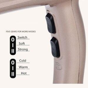 Image 4 - High Power suszarka do włosów dla fryzjera profesjonalna suszarka do jonów ujemnych gorący/zimny wiatr z dyszą do zbierania powietrza D35