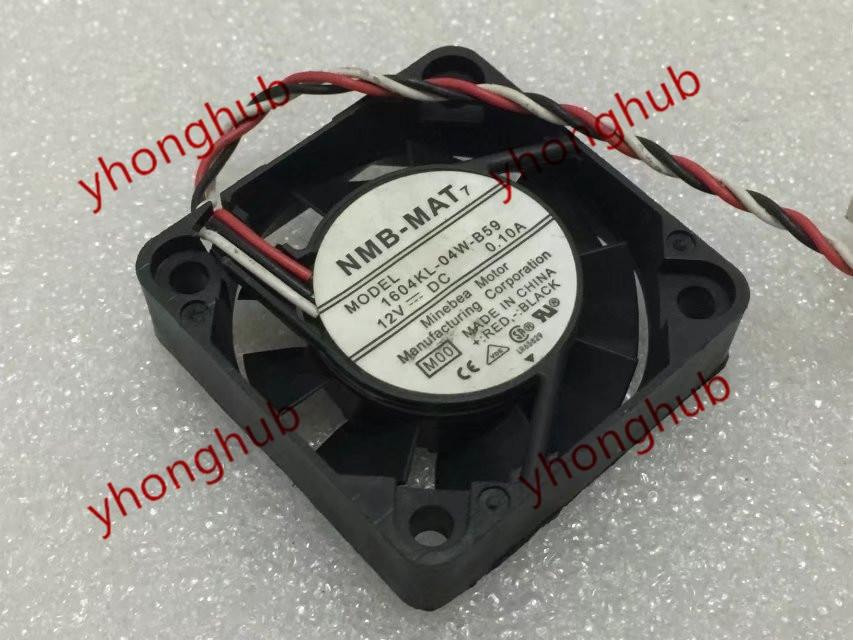 NMB-MAT 1604KL-04W-B59 M00 DC 12V 0.10A 40 × 40 × 10 ミリメートルサーバー冷却ファン