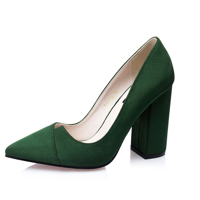 Women crude with a single shoe shallow mouth high-heeled shoes 2017 new fashion lady shoes for women high-heeled shoes spring 39