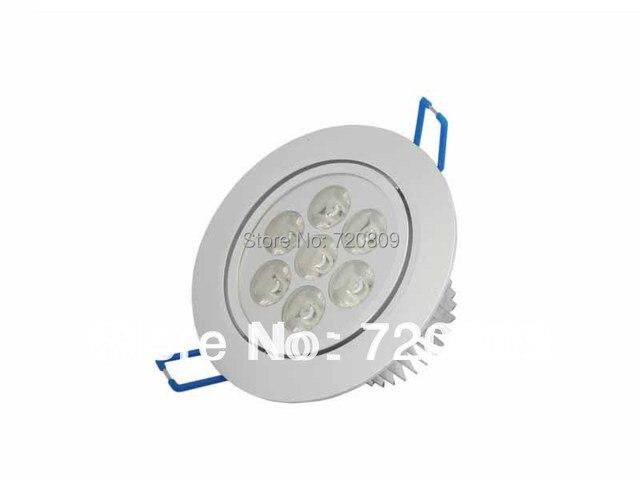10 teile/los free verschiffen 7 watt led decke downlight 7x1 w spot ...