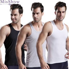 3pcs/lot Man's 100% Cotton Solid Seamless Underwear Gymclothing Mens Sleeveless Tank Vest Comfort Undershirt Undershirts 2019(China)