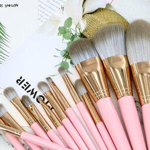 Image 5 - 14 adet/grup Makyaj Fırçalar Seti Göz Farı Vakfı Karıştırma Fırçası Profesyonel Makyaj Fırçaları yüksek kaliteli kozmetik Aksesuar