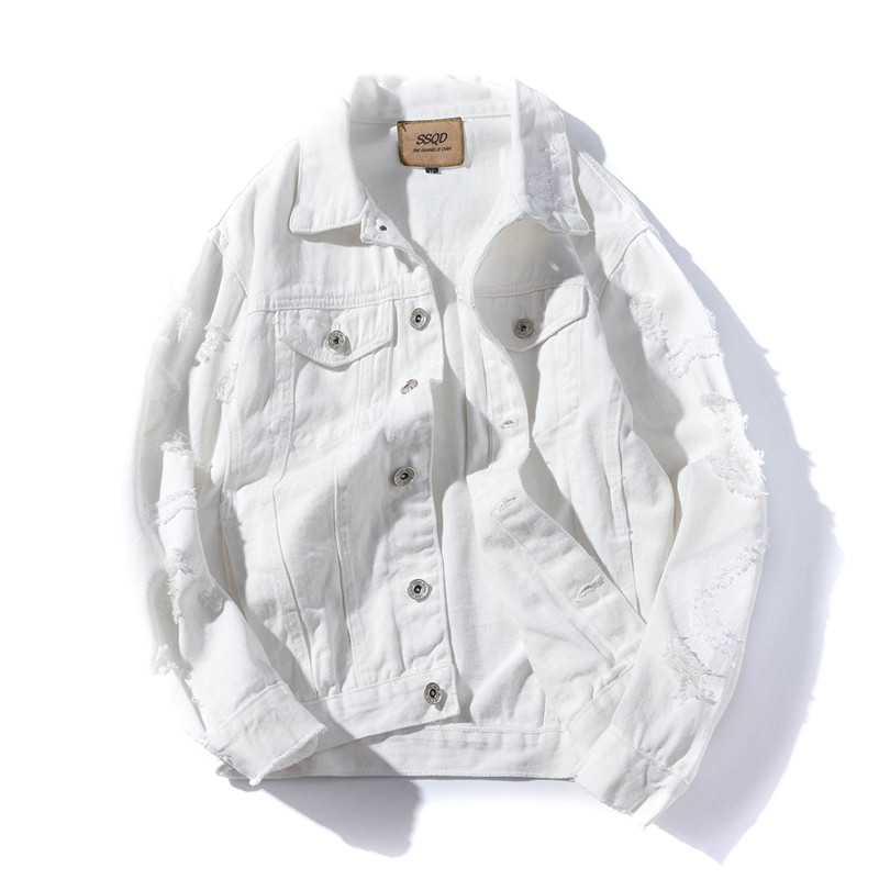 Loldeal Для мужчин прочный носить без подкладки джинсовая куртка Для мужчин в Trucker Jacket
