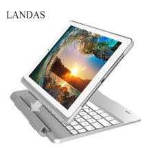 Landas Case Keyboard For Ipad 9.7 2017 Case Keyboard Slot Cover Flip Bluetooth Backlit  Keyboard Cover for iPad Pro 9.7