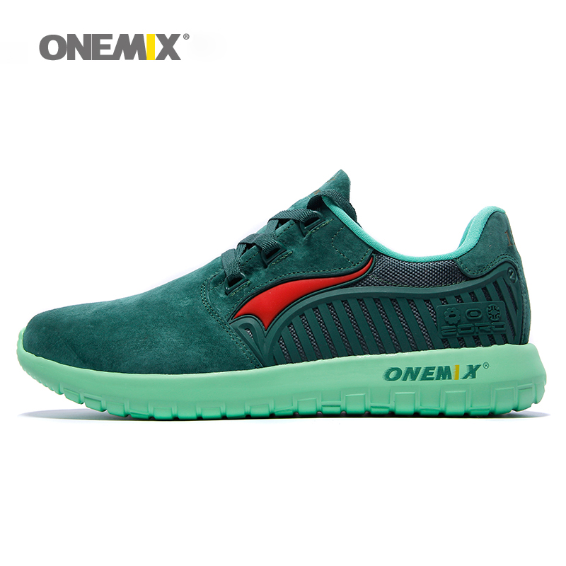 $31.60 Onemix brand Autumn Winter unisex running shoes antislip women's retro sport sneakers travelling shoes for men size EU36-45