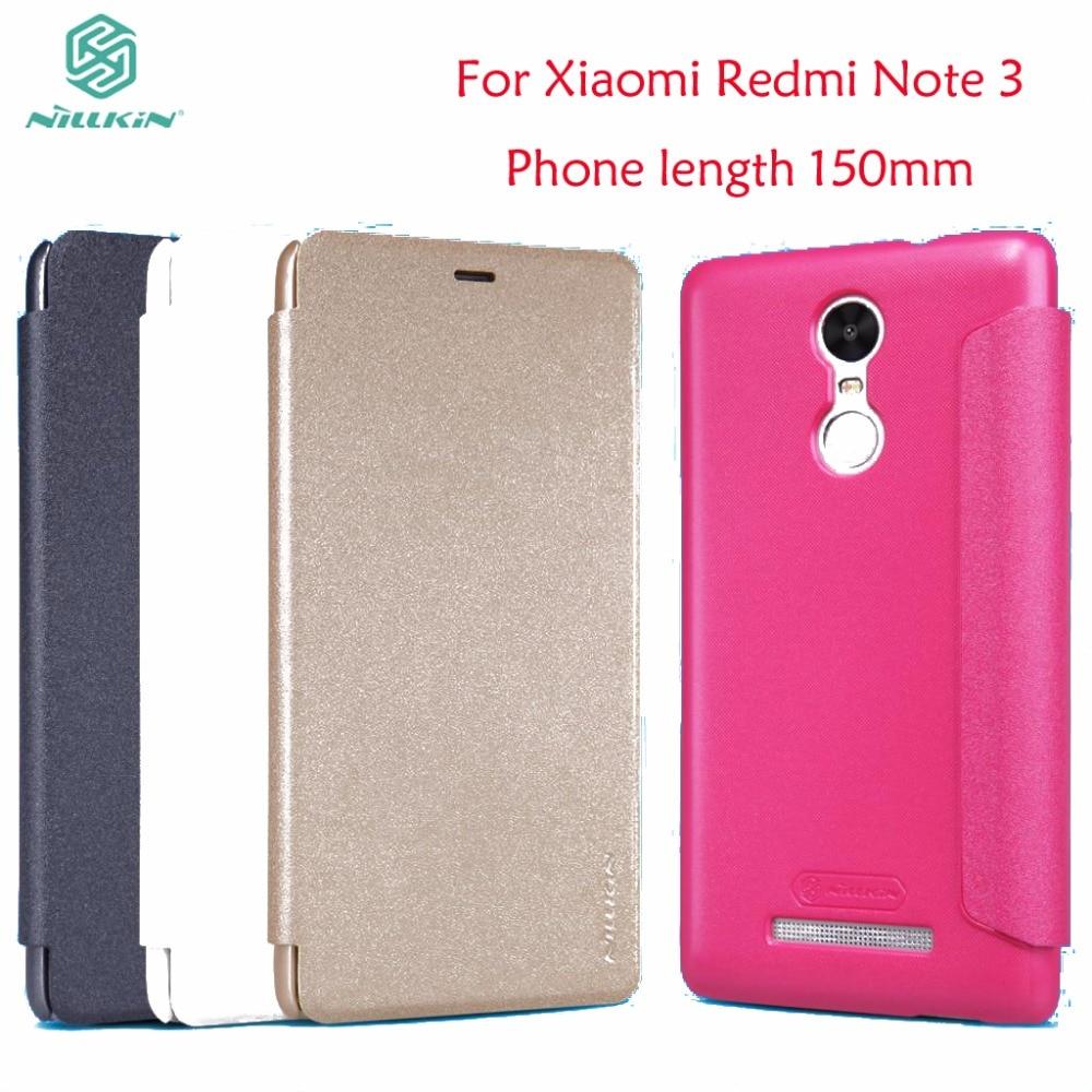 Xiaomi Redmi Note 3 Flip Case Cover Nillkin Sparkle Flip Case For Xiaomi Redmi Note 3 Pro Prime Leather Case Phone length 150mm
