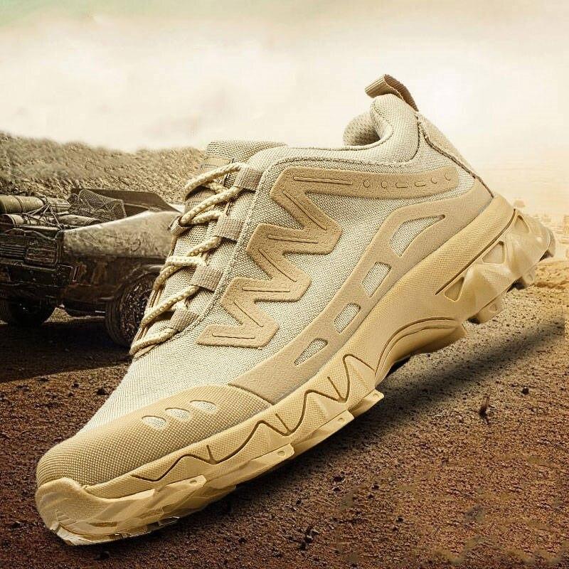 Chegada ao ar Nova Livre Caminhadas Sapatos Homens Militar Tático Camo Escalada Trekking Sapato Caça Acampamento Mountain Sneaker Alta Qualidade