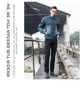 Image 5 - Mais novo quente vendas uglybros motorpool ubs06 jeans lazer calças de brim da motocicleta do exército locomotiva motor calças duas cores