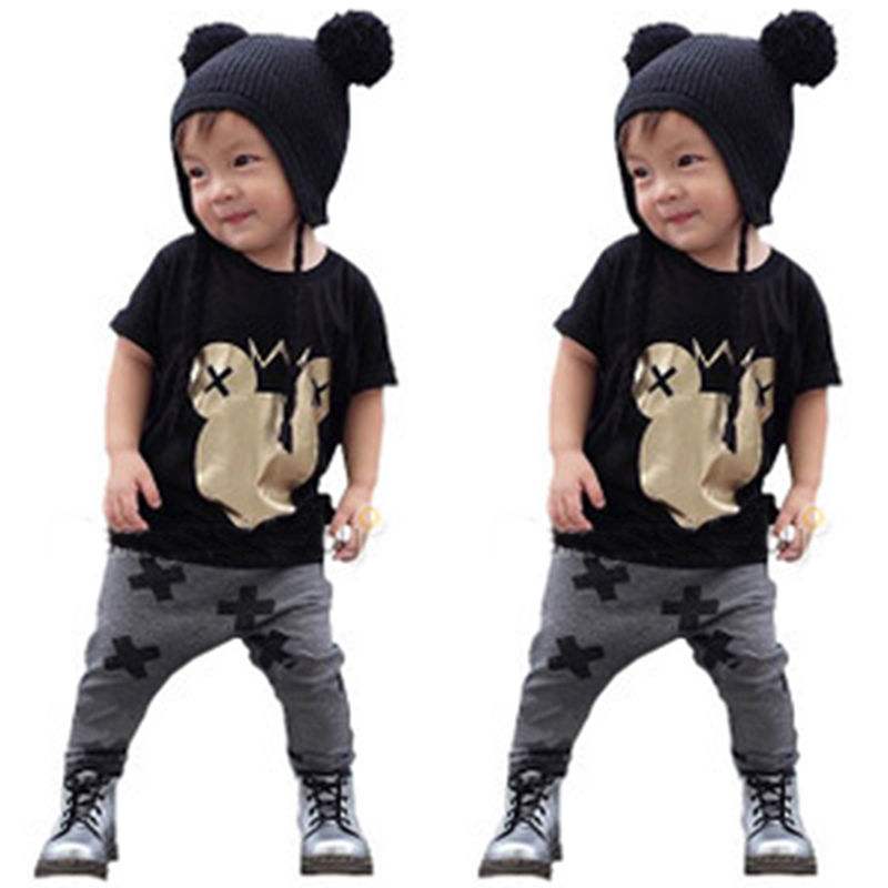 2017 Novelty Casual Kids Baby Boys Mickey Mouse Outfits Set Cotton T shirt+Pants  Clothing New-in Clothing Sets from Mother & Kids on Aliexpress.com ... - 2017 Novelty Casual Kids Baby Boys Mickey Mouse Outfits Set Cotton