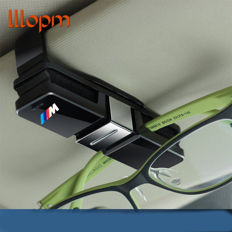 Car SunGlasses Holder M Emblem Stickers for BMW E46 E39 E90 E36 F30 F10 X5 E35 E34 E30 F20 E92 E60 E61 F11 F34 Z4 X1 X3 X5 X6 M5 защитные аксессуары car pakistan bmw alpina