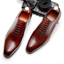 Men Formal Business Genuine Leather Men Dress Office Shoes Men Comfortable Gentleman Shoes