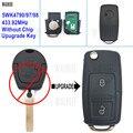 Walklee обновление ключ автомобиля дистанционного 5WK4 790/97/98 433.92 мГц для Ford Galaxy HU66 лезвие без чипа