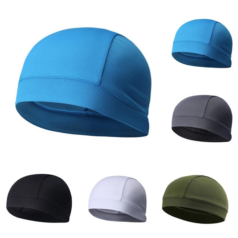 Skull Cap Quick Dry Sports Sweat Beanie Cycling Caps Headband Sweatband for Man Woman