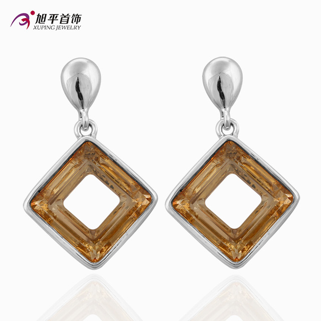 High Quality Charm Style Crystal from Swarovski Xuping Fashion Earring Colorful Color Plated Charm for Women GiftXE2318